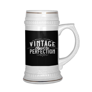 Vintage Aged To Perfection Beer Stein 22 oz