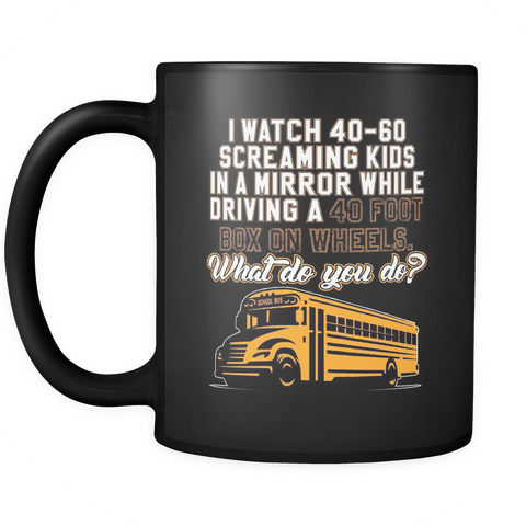 Image of teelaunch Drinkware BusDriver(Black) Bus Driver Coffee Tea Mug Black 11 oz