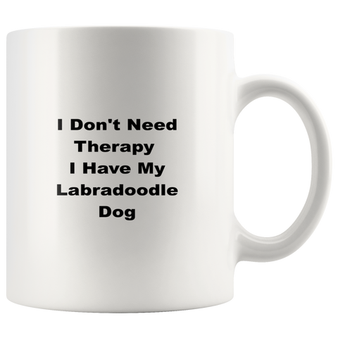 Image of teelaunch Drinkware Labradoodle Labradoodle Dog Coffee Tea Mug White 11 oz