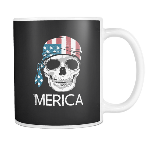 teelaunch Drinkware merica A'merica Coffee Tea Mug White 11 oz