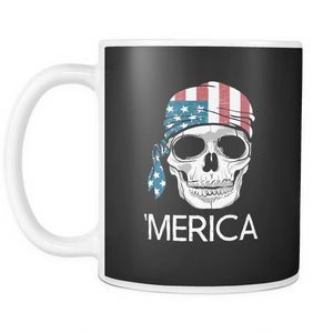 A'merica Coffee Tea Mug White 11 oz