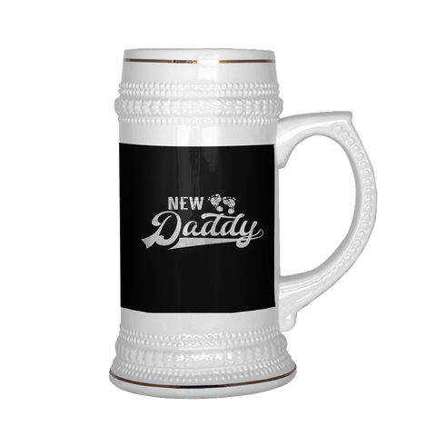 Image of teelaunch Drinkware NewDad New Daddy Beer Stein 22 oz