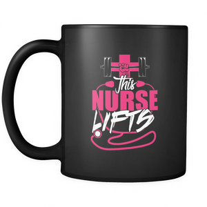 Nurse Lifts Coffee Tea Mug Black 11 oz