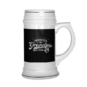 Promoted To Grandpa Beer Stein 22 oz