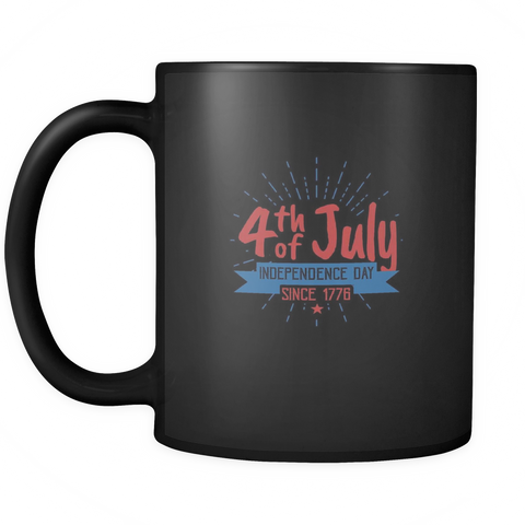teelaunch Drinkware SInce 1776 Since 1776 Coffee Tea Mug Black 11 oz