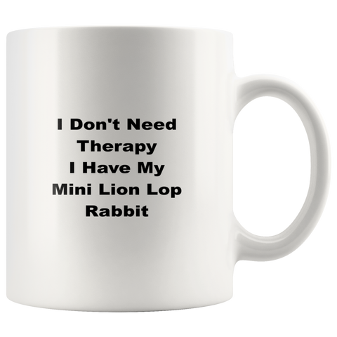 Image of teelaunch Drinkware wdw Mini Lion Lop Rabbit  Coffee Tea Rabbit Mug White 11 oz