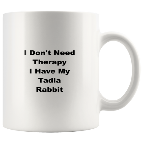 Image of teelaunch Drinkware wdw Tadla Rabbit Coffee Tea Mug White 11 oz