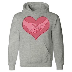 Kent Prints Hoodie 5XL / Ash Grey Hand holding in a heart universal grunge - Hoodie