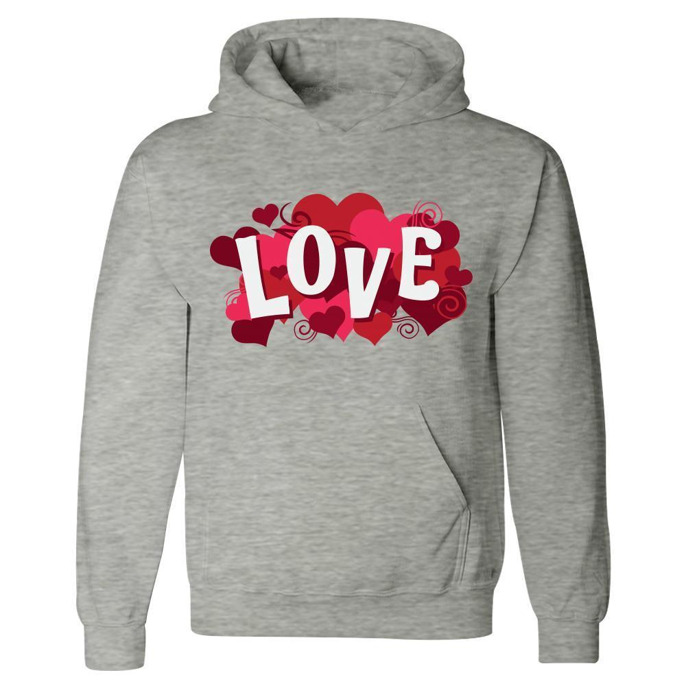 Kent Prints Hoodie 5XL / Ash Grey Love sign with hearts universal - Hoodie