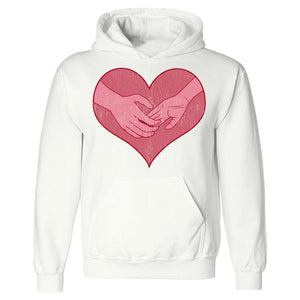 Hand holding in a heart universal grunge - Hoodie