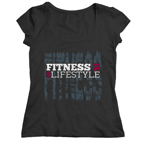 PT Ladies Classic Shirt Ladies Classic Shirt / Black / S Fitness Is My Life Style (Ladies Classic)