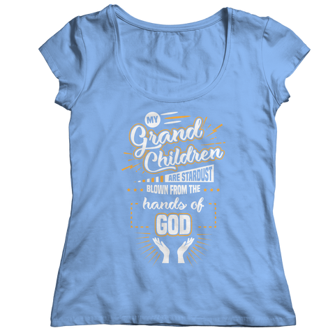 Image of PT Ladies Classic Shirt Ladies Classic Shirt / Light Blue / S My Grandchildren (Ladies Classic)