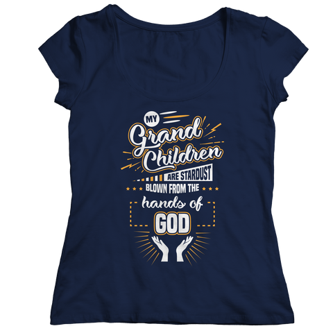 Image of PT Ladies Classic Shirt Ladies Classic Shirt / Navy / S My Grandchildren (Ladies Classic)