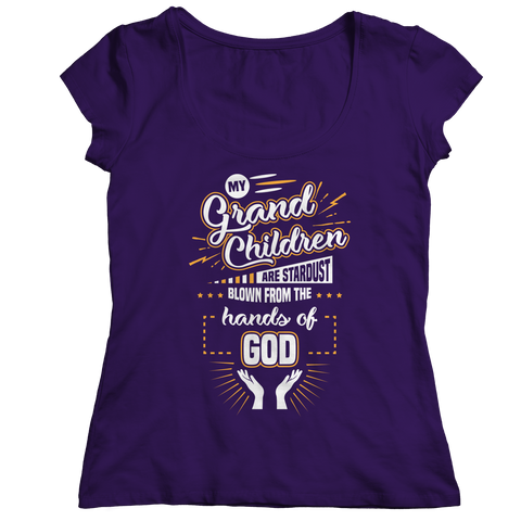 Image of PT Ladies Classic Shirt Ladies Classic Shirt / Purple / S My Grandchildren (Ladies Classic)