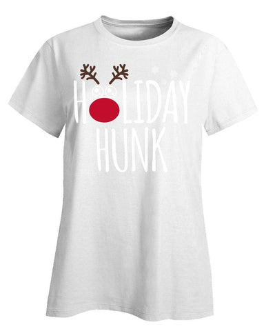 Image of Kent Prints Ladies T-Shirt 2XL / White Holiday Hunk Christmas - Ladies T-Shirt