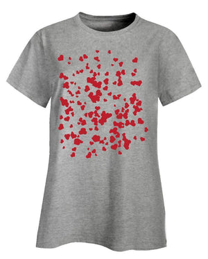 Hearts background pattern universal - Ladies T-Shirt