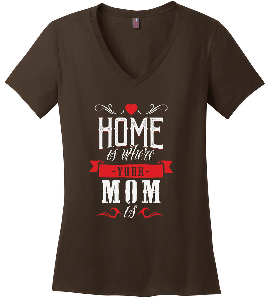 Kent Prints Ladies V-Neck S / Espresso Ladies V Neck Tee Mom