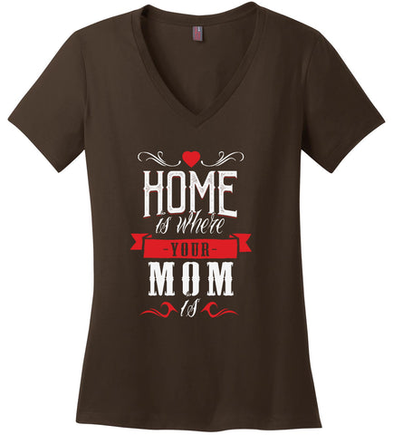 Image of Kent Prints Ladies V-Neck S / Espresso Ladies V Neck Tee Mom