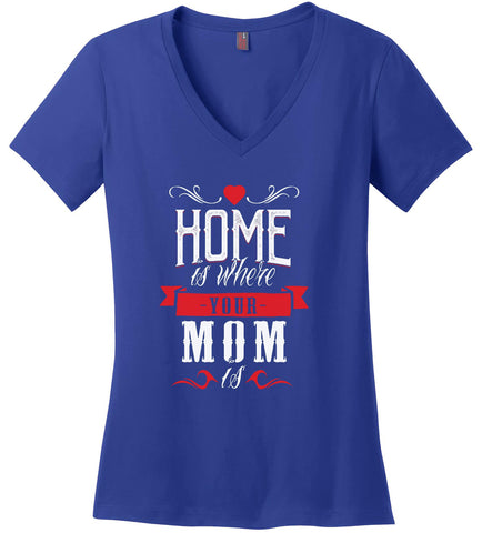 Image of Kent Prints Ladies V-Neck S / Royal Ladies V Neck Tee Mom