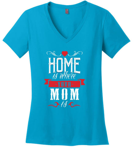 Image of Kent Prints Ladies V-Neck S / Turquoise Ladies V Neck Tee Mom