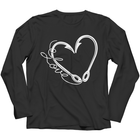 PT Long Sleeve Long Sleeve / Black / S Fish Hook Heart (Long Sleeve)