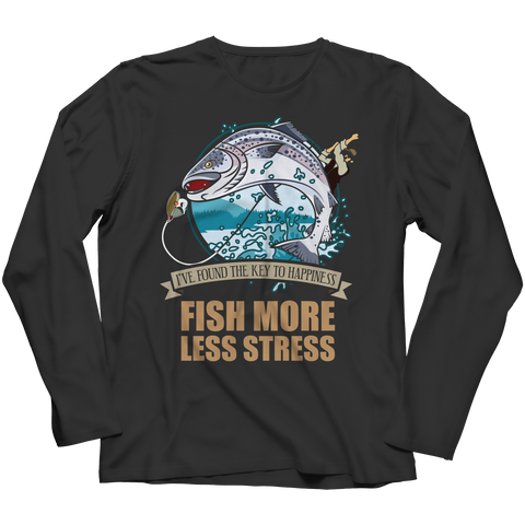PT Long Sleeve Long Sleeve / Black / S Fish More Less Stress (Long Sleeve)