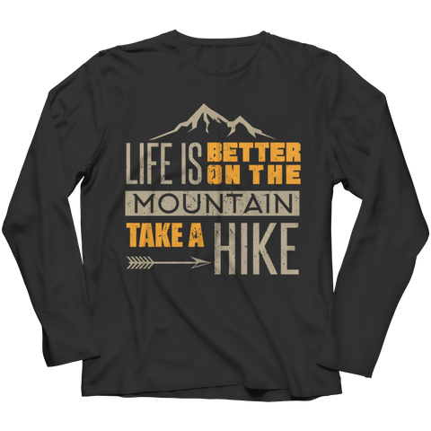 PT Long Sleeve Long Sleeve / Black / S Life Is Better On The Mountains (Long Sleeve)