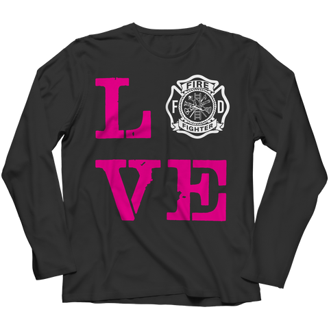 PT Long Sleeve Long Sleeve / Black / S Limited Edition - Firefighter Wife Love (Long Sleeve)