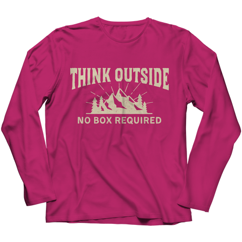 Image of PT Long Sleeve Long Sleeve / Pink / S Think Outside (Long Sleeve)