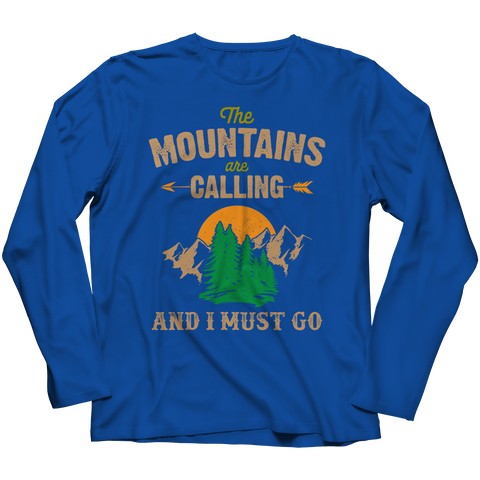 PT Long Sleeve Long Sleeve / Royal / S The Mountains Are Calling (Long Sleeve)