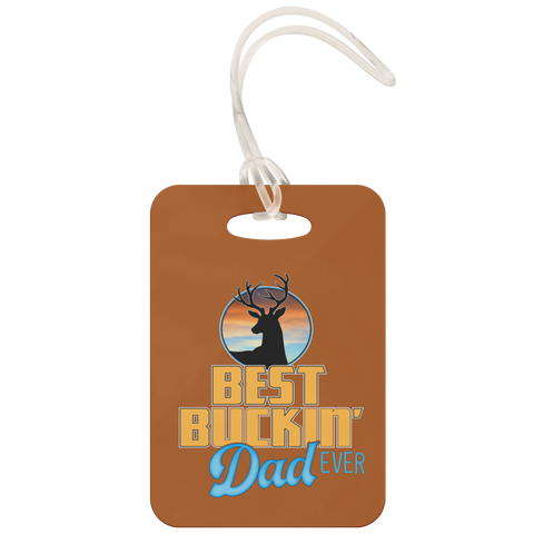 teelaunch Luggage Tags Luggage Tag Best Buckin' Dad - Luggage Tag
