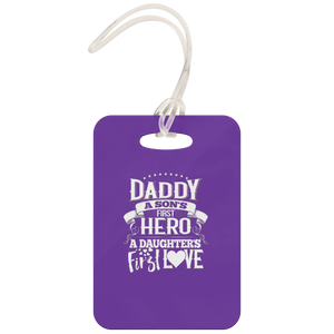 Daddy A Son's Hero - Luggage Tag