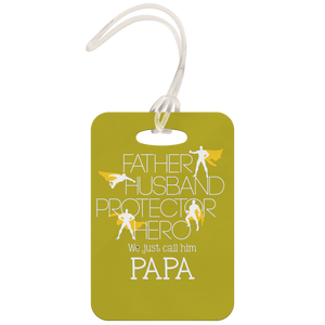 Father Husband Protector Hero Papa - Luggage Tag