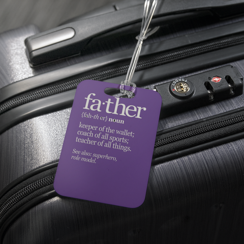 teelaunch Luggage Tags Luggage Tag Father Noun - Luggage Tag