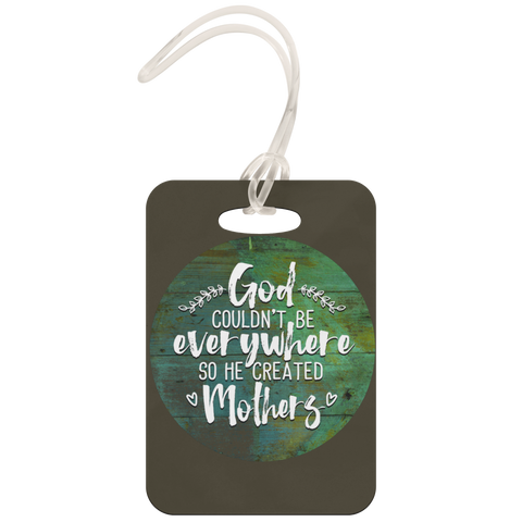 teelaunch Luggage Tags Luggage Tag God Created Mothers - Luggage Tag