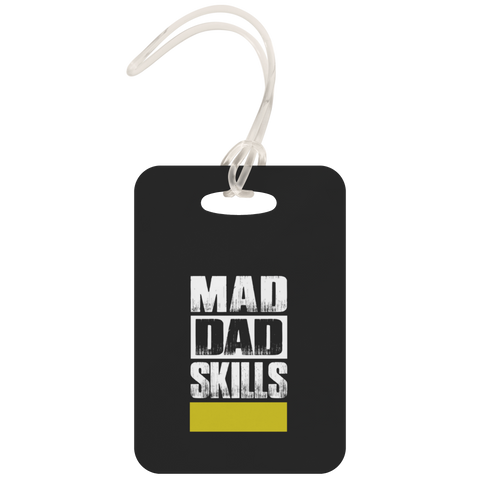 teelaunch Luggage Tags Luggage Tag Mad Dad Skills - Luggage Tag