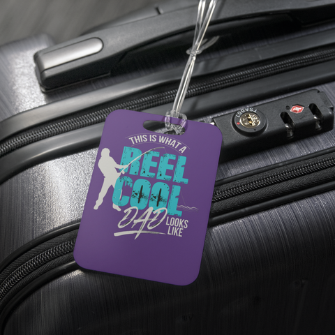 teelaunch Luggage Tags Luggage Tag Reel Cool Dad - Luggage Tag