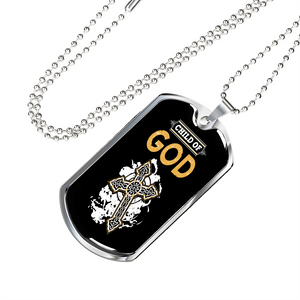 Military Steel Chain Dog Tag - Child Of God
