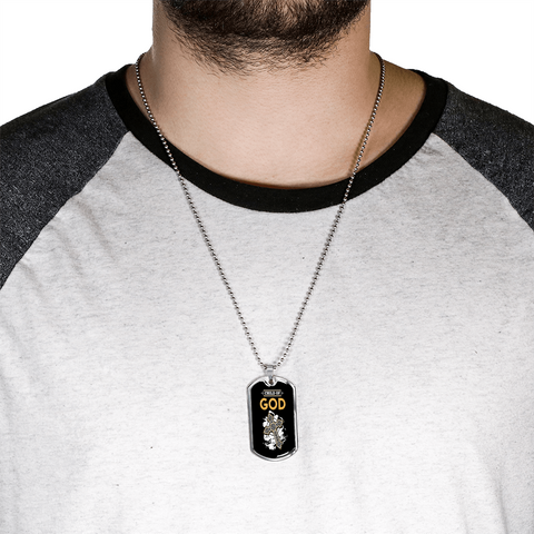 ShineOn Fulfillment Necklaces Dog Tag Military Chain (Silver) / No Military Steel Chain Dog Tag - Child Of God