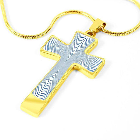 ShineOn Fulfillment Necklaces Pendant Cross Luxury Necklace (Gold) / No Luxury Steel Cross Pendant Necklace - Hypnotic