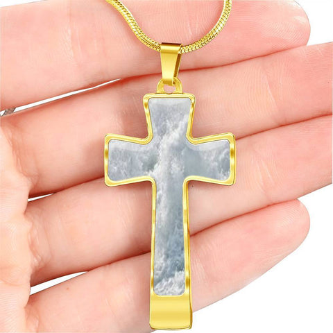 ShineOn Fulfillment Necklaces Pendant Cross Luxury Necklace (Gold) / No Luxury Steel Cross Pendant Necklace - Iceberg