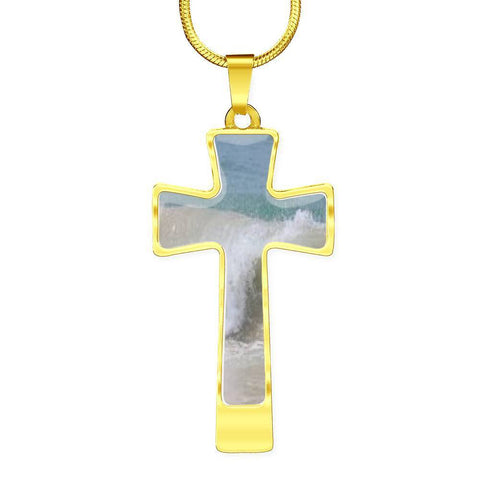 Image of ShineOn Fulfillment Necklaces Pendant Cross Luxury Necklace (Gold) / No Luxury Steel Cross Pendant Necklace - Tides