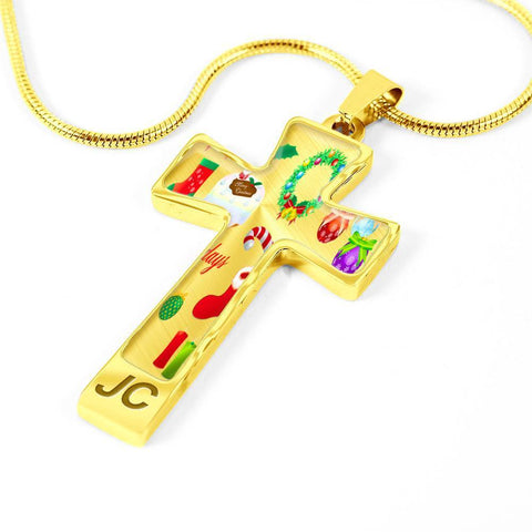 ShineOn Fulfillment Necklaces Pendant Cross Luxury Necklace (Silver) / No Luxury Steel Cross Pendant Necklace - Christmas Ornaments