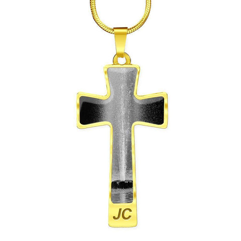 ShineOn Fulfillment Necklaces Pendant Cross Luxury Necklace (Silver) / No Luxury Steel Cross Pendant Necklace - Grayscale Fountain