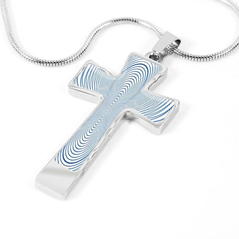 ShineOn Fulfillment Necklaces Pendant Cross Luxury Necklace (Silver) / No Luxury Steel Cross Pendant Necklace - Hypnotic