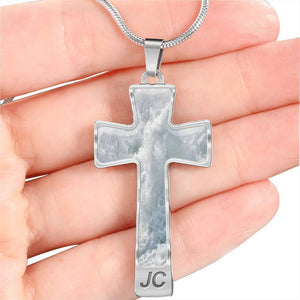 Luxury Steel Cross Pendant Necklace - Iceberg