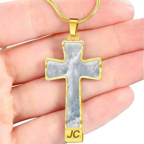 ShineOn Fulfillment Necklaces Pendant Cross Luxury Necklace (Silver) / No Luxury Steel Cross Pendant Necklace - Iceberg