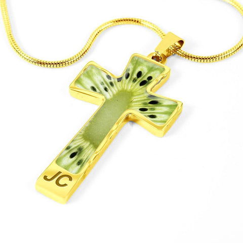 ShineOn Fulfillment Necklaces Pendant Cross Luxury Necklace (Silver) / No Luxury Steel Cross Pendant Necklace - Kiwi