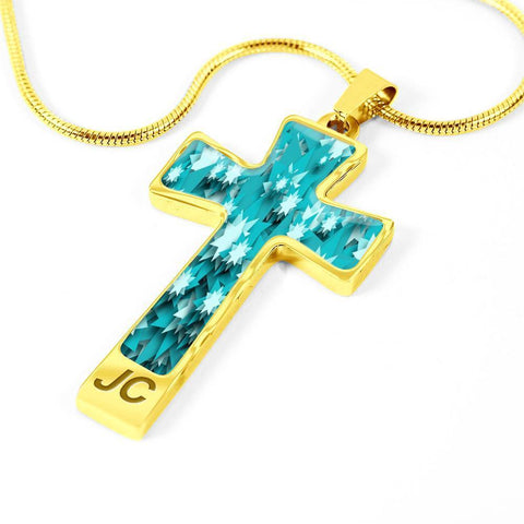 ShineOn Fulfillment Necklaces Pendant Cross Luxury Necklace (Silver) / No Luxury Steel Cross Pendant Necklace - Paper Stars