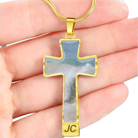 ShineOn Fulfillment Necklaces Pendant Cross Luxury Necklace (Silver) / No Luxury Steel Cross Pendant Necklace - Tides
